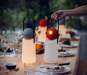 Holland design, 3D print, 3D printed lamp, open twist pattern.