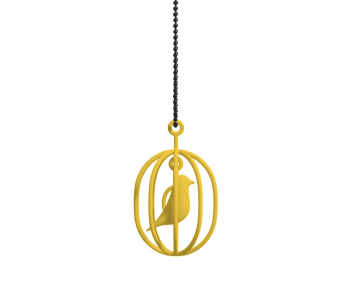 Happy Bird necklace yellow: perfect gift for bird lovers