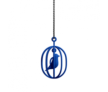 Happy Bird necklace with blue bird in a cage: perfect gift for her