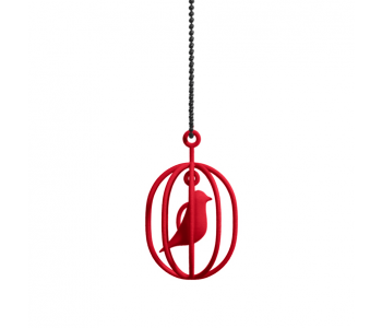 The necklace Happy Bird from Soonsalon comes in red