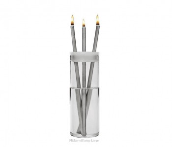 Flicker Oil Lamp by Duo Design stainless steel including lamp oil