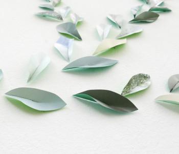 Muurstickers leaves groen