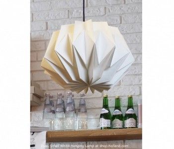Ilyas Small Hanglamp wit van Danielle Origami Lampen