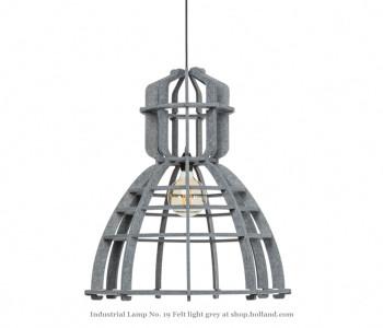 No. 19 XL Industriële hanglamp in lichtgrijs PET-vilt van Olaf Weller koop je bij shop.holland.com
