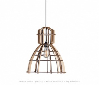 Industrial Pendant Light No. 19 XL Ø 60cm natural MDF at shop.holland.com