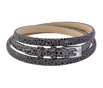 Joy de la Luz, leather strap, bracelet, snake print, stingray print