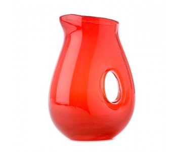 Jug with hole red, water jug, water carafe Pols Potten