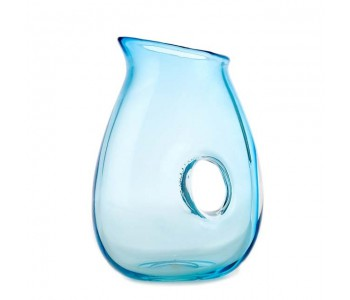 Jug with hole turquoise, water jug, water carafe Pols Potten