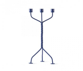 Twisted candlestick in blue