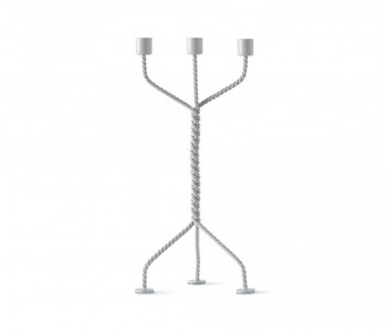 Twisted candlestick in light grey