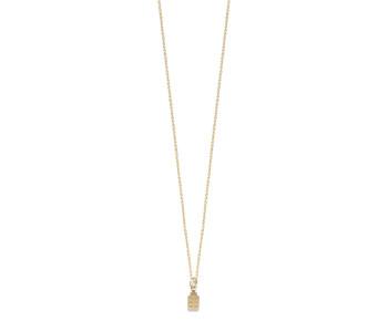 Elegante gouden ketting met mini grachtenpand eraan koop je bij shop.holland.com