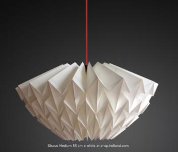 Discus M Hanglamp Wit van Daniëlle Origami bestel je bij shop.holland.com net als ander trendy Dutch Design voor je interieur