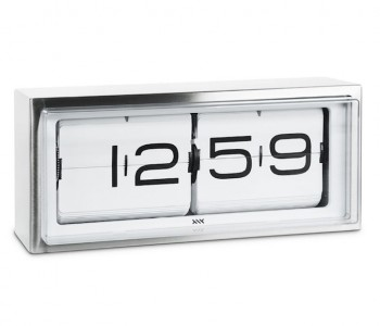 LEFF Amsterdam Brick Clock Stainless steel