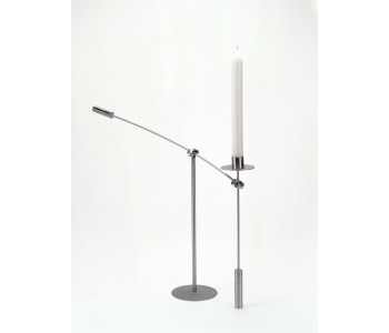 Libra candlestick by Duo Design stainless steel including candle