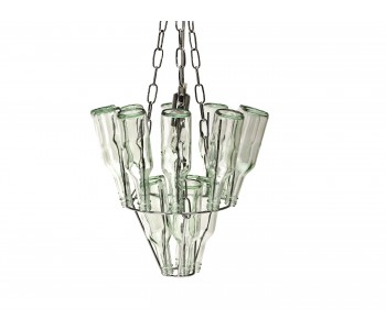 Leitmotiv Mini Bottle Chandelier Chrome