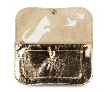 Golden Cat Chase Wallet from Keecie