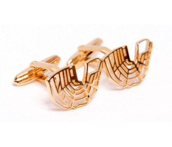 Gold-plated designer canals of Amsterdam cufflinks as a birthday or Father's day gift