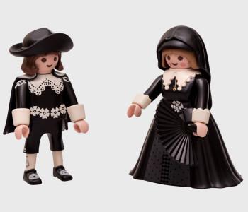 Marten & Oopjen als Playmobil Figuren - Rijksmuseum