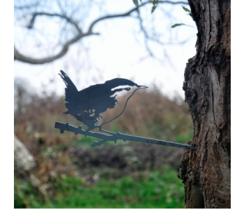 Metal bird Wren by Metalbird; a garden decoration
