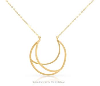 Clic collier Nanne 14k verguld zilver is een prachtig cadeau