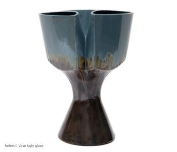 Nefertiti Vaas van Roderick Vos - Ugly Glazes  - bijzonder cadeau