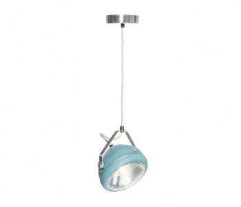 No.5 Vintage Hanglamp Koplamp aqua met linnen snoer koop je bij shop.holland.com