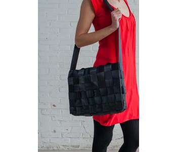 Sweatshop Deluxe bags, sustainable bag, office city bag, black laptop bag, design bag