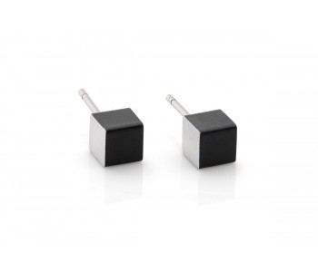 Dutch Design Clic Creations square earrings, earrings aluminum, fashion, and accessories Click creations studs