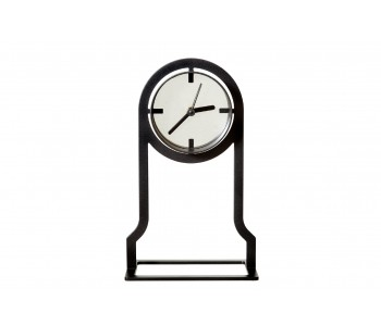 Gispen Outline table clock high from black steel by Peter van de Water