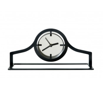 Gispen Outline table clock low from black steel by Peter van de Water