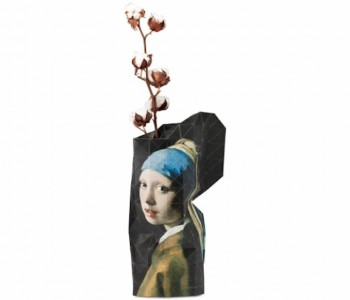 Paper Vase Cover Vermeer Milkmaid from Pepe Heykoop and Tiny Miracles Foundation