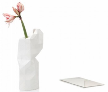 Paper Vase Cover in white from Pepe Heykoop and Tiny Miracles Foundation