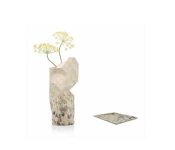 Paper Vase Cover canal houses from Pepe Heykoop and Tiny Miracles Foundation