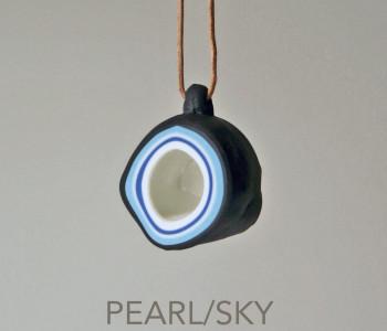 wOrk Stone Cup hanger grijs en wit met blauw Pearl & Sky