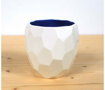 Polygon Coffee Cup by Studio Lorier - white and blue