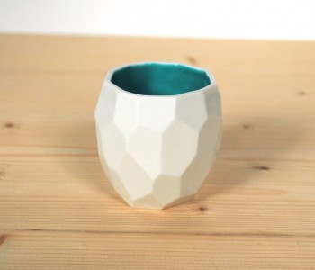 Polygon Coffee Cup by Studio Lorier - white and green