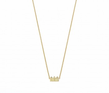Canal House Necklace gold plated - Riverstones
