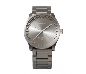 Piet Hein Eek Tube watch S38 in stainless steel by Piet Hein Eek, sturdy and refined Dutch design