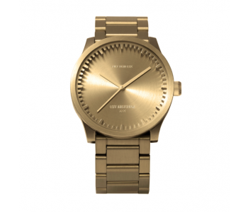 LEFF  watch Tube D38 in brass by Piet Hein Eek, stylish Dutch design watch