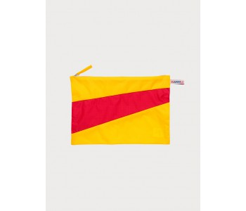 The new pouch by Susan Bijl | large pouch in bright yellow and red
