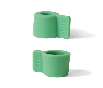 Silly candle holder in the color green; ideal gift for him