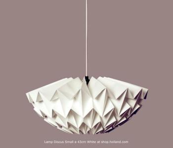 Discus S Hanglamp Wit van Daniëlle Origami - hippe Dutch Design lampen bestel je bij shop.holland.com