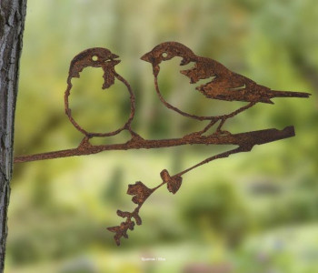 Metalbird Blackbird metal bird as garden decoration