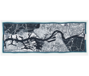 City scarf Barents Urban Fabric city map