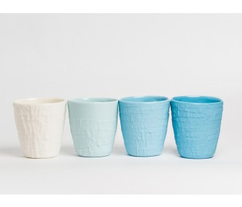 Cup TAPED in shades of blue porcelain by Studio PS