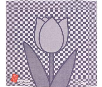 Tea Towel Tulip by Miffy for Hollandsche Waaren in blue and white