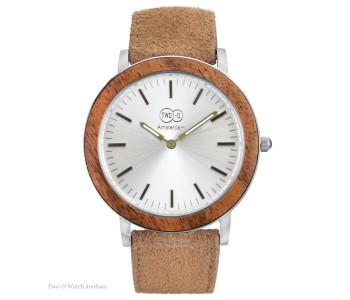 Brass Tube watch D38 with brown laether strap, Piet Hein Eek design for LEFF amsterdam, stylish design watch