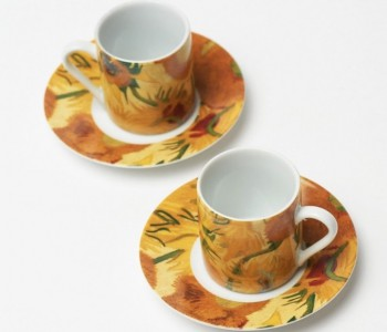 Van Gogh Espresso Cups Sunflowers