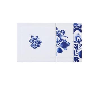 Blue D1653 Versatile Plain | rechthoek van Royal Delft Delfts Blauw porselein