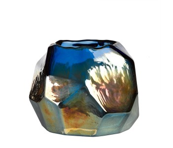 Pols Potten Graphic Luster Tealight Holder colored glass
